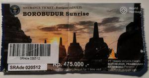 Ticket per l'alba a Borobudur